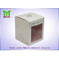 Quality Recycled C1s Crown Gift Packaging Boxes With Pvc Window , Two Sides Printing for sale