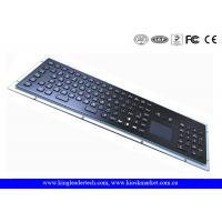 Wholesale Dust-proof 103 Keys Black Metal Kiosk Keyboard With Touchpad And Number Keypad from china suppliers