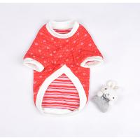 Wholesale Poodle, Mini Schnauzer Cotton Red Personalized Dog T Shirt with Toy Rabbit from china suppliers
