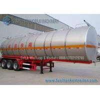 Wholesale SUS304 2B Chemical Tank Trailer 3 Axle 39000 L Milk  Liquid Tanker from china suppliers