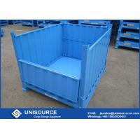 Quality Durable Steel Pallet Box Foldable / Reusable Metal Mesh Box For Transportation for sale