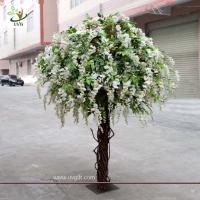 Wholesale UVG CHR047 wedding decoration Artificial Wisteria Blossom Tree indoor use 8ft high from china suppliers