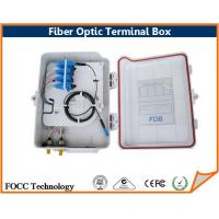 Wholesale FTTH 12 Port Fiber Optic Cable Termination Box For 1 x 8 PLC Splitters from china suppliers