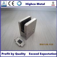 Wholesale Stainless Steel Square Glass Clamp with Round Back 45x45mm Fit 6-10mm Glass for Staircase Glass Railing from china suppliers