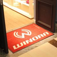 Quality Custom Nylon OEM logo door mat for sale
