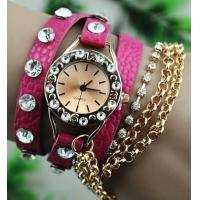 Wholesale Cute and Beautiful Rhinestone Bracelet Style Watch Ladies Watch from china suppliers