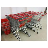 Wholesale Grocery Store Wire Shopping Trolley Metal Retail Carts 60L With Zinc Plated from china suppliers
