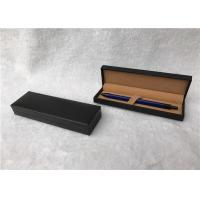 Wholesale Brown Custom Cardboard Pen Gift Box With Embossed Logo , Velvet Inside from china suppliers