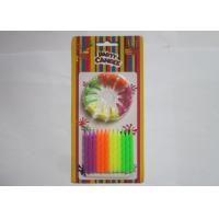 Wholesale Colorful Fluorescent Candles Spiral Shaped Anniversary Office Party Decorations from china suppliers