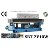 Quality 10 Spindles Straight-Line Glass Edging Machine With Digital Display And PLC Control for sale