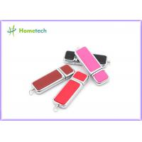 Wholesale Promotional engravable Leather USB Flash Drive custom logo printing from china suppliers