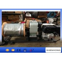 Wholesale Lightweight Gas Engine Powered Winch / Cable Drum Winch With 10mm Wire Rope from china suppliers