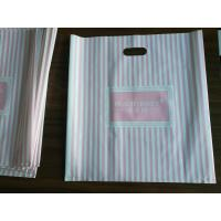 Wholesale Customizable Plastic Shopping Bag / Plastic Merchandise Bags With Die Cut Handles from china suppliers