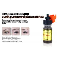 Wholesale Jet Black Semi Cream Micro Semi Permanent Makeup Pigments For Eyeliner 8ml from china suppliers