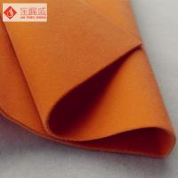 Buy cheap Cotton Backing Velvet Double Faced Fabric , Short Pile Orange Double Sided from wholesalers