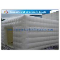 Wholesale Double Stitching Whiten Inflatable Lawn Tent With Cube Bubble / Square Structure from china suppliers