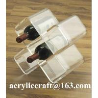 Wholesale Customize Transparent Plexiglass Wine Rack Popular Clear Acrylic Wine Holder from china suppliers