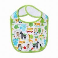 Wholesale Water-resistant baby bib, available in different designs and sizes from china suppliers