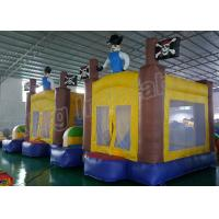 Wholesale Outdoor Playground Pirate Inflatable Kids Jumping Castle Yellow And Blue from china suppliers