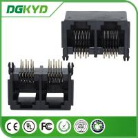 Wholesale 2 Port RJ11 JACK without Transformer , PBT Black RJ11 Connector from china suppliers