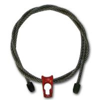 """Quality 3/8"""" x 6 ft 6x19 Wire Rope Logging Chokers Nub & Nub Skidding - Style for sale"""