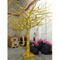 Buy cheap outdoor park/resturant landsaping artificial banyan tree(with golde leaves) from wholesalers
