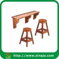 Wooden Outdoor Spa Bar Counter With Stool Of Item 100324066