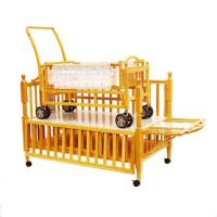 Wholesale Adjustable Wooden Baby Cot Bed Cribs with Small Cradle Inside from china suppliers