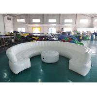 Wholesale 12ft Diameter Round Shape Inflatable Sofa For Meeting With White Color from china suppliers