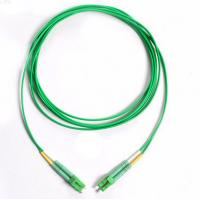 Wholesale Green Cable Fibre Optic Patch Cord  LC/APC-LC/APC Singlemode Duplex 3.0mm OFNR from china suppliers