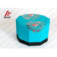 Wholesale Blue Lid & Black Base Cardboard Food Packaging Boxes , Decorative Cardboard Boxes With Lids from china suppliers