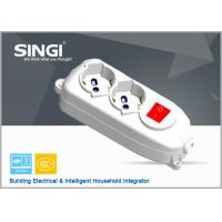 Wholesale Europe Power strips with flat plugs safety converter , Extension Cord Socket With Switch from china suppliers