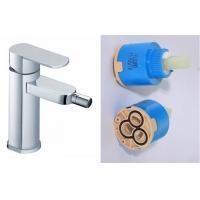 Wholesale Ceramic Single Hole Bathroom Sink Faucet , Single Handle Brass Bidet Taps from china suppliers