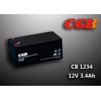 Quality 12V 3.4AH AGM UPS Lead Acid Battery , Alarm System Recharge Ups Battery for sale