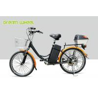 CE 24 Inch Pedal Assist Electric Bike , lady style E Bike 36V Brushless Motor V Brake