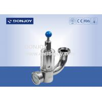 Wholesale Sanitary Stainless Steel Exhaust Safety Pressure Release Valve With Pressure Guage from china suppliers