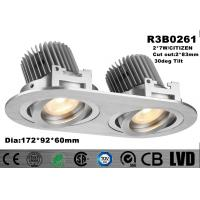 Wholesale 2 * 7W Indoor Double Head LED Recessed Downlights Aluminum Fashion Profile from china suppliers