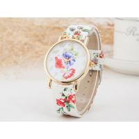 Wholesale Fashion Trend Exquisite Geneva Ladies Floral Leather Watch Strap Watch from china suppliers