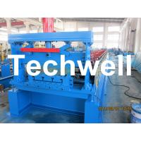 Wholesale 0.6-1.2mm Custom Metal Deck Roll Forming Machine from china suppliers