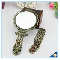 Wholesale Circular Castle Design Foldable Handle Mirrors of Dressing Table Vintage Handle Mirrors from china suppliers