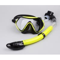 Wholesale Diving equipment silicone diving mask set of underwater ventilation pipeDiving mask + snorkel from china suppliers