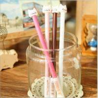 Wholesale Hot sale lowest price funny plastic cat ball pen cat plastic ball-point pen office&school beautiful cheap funny pen from china suppliers
