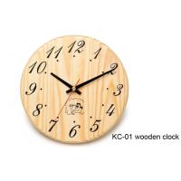 Wholesale Round handmade wooden clocks for sauna room , 200mm × 200mm × 30mm from china suppliers