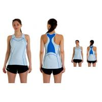Wholesale Women's Sports Wear Polyester Running Apparel Coolmax Singlet With Bra Liner from china suppliers
