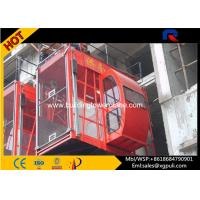 Wholesale Twin Cage 2.4m Cage height construction passenger hoist With Mast Sections from china suppliers
