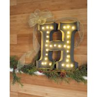 "Wholesale 20"" Metal Vintage 3D Marquee Letter Lights With Light Bulbs , Marquee Sign Letters from china suppliers"