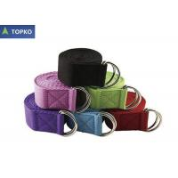 Wholesale Customized Yoga Stretch Band With Metal D - rings Buckle , 6'' / 8'' Yoga Strap from china suppliers