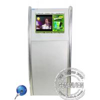 Wholesale 19inch Silver Floorstanding Slim Digital Kiosk Capacitive Touch Screen with Front Speaker from china suppliers