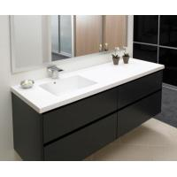 Wholesale White Custom Living Room Furniture Modern Double Sink Vanity Cabinet Matt Lacquer from china suppliers