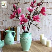 Wholesale UVG diy wedding decorations silk magnolia branches faux flowers for table centerpieces FMA58 from china suppliers